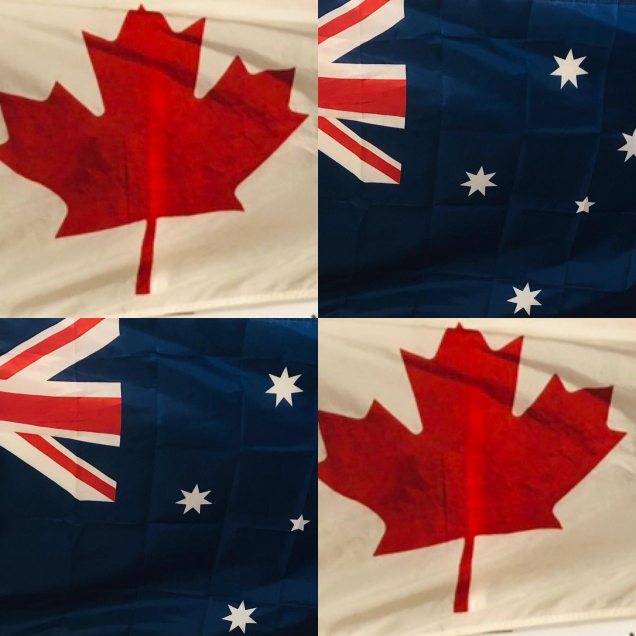Australia flag Canada flag Differences between Canada and Australlia