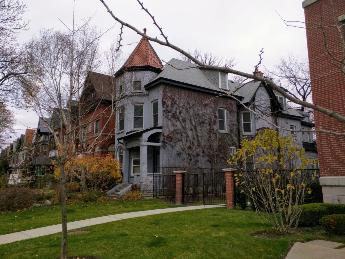 A row of Victoria mansions in the Annex
